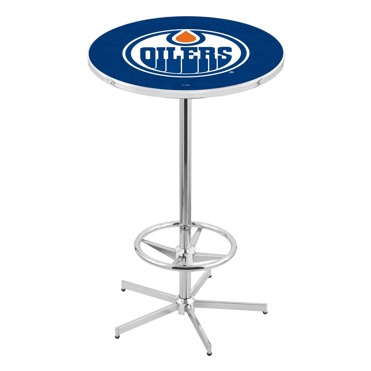 Cheap Chrome Edmonton Oilers Pub Table Product Photo