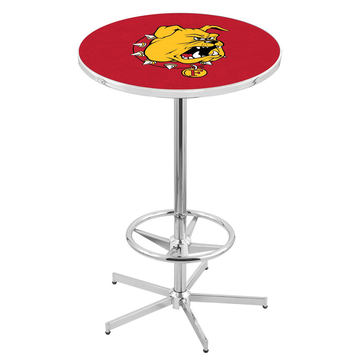 New Chrome Ferris State Pub Table Product Photo