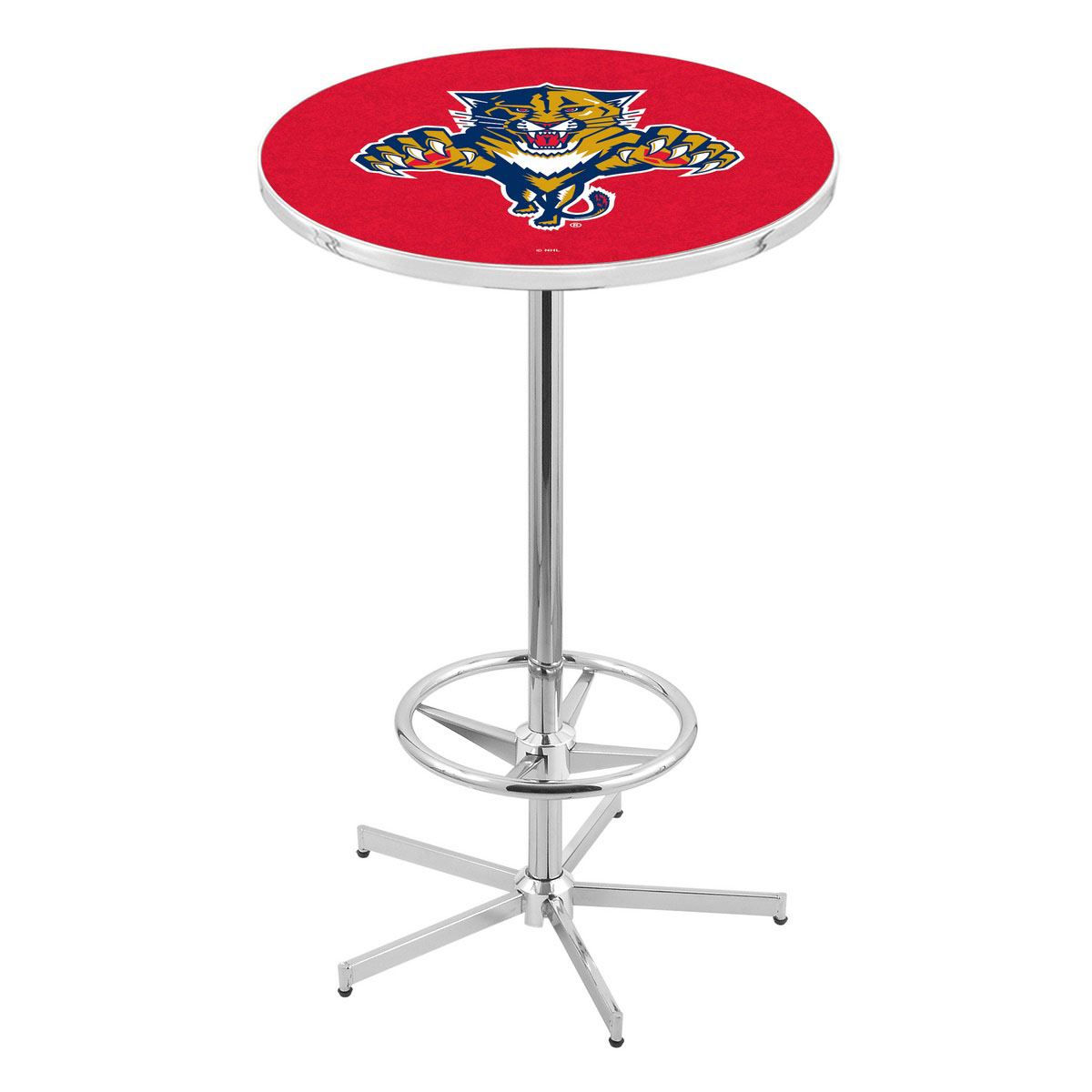 Excellent Chrome Florida Panthers Pub Table Product Photo