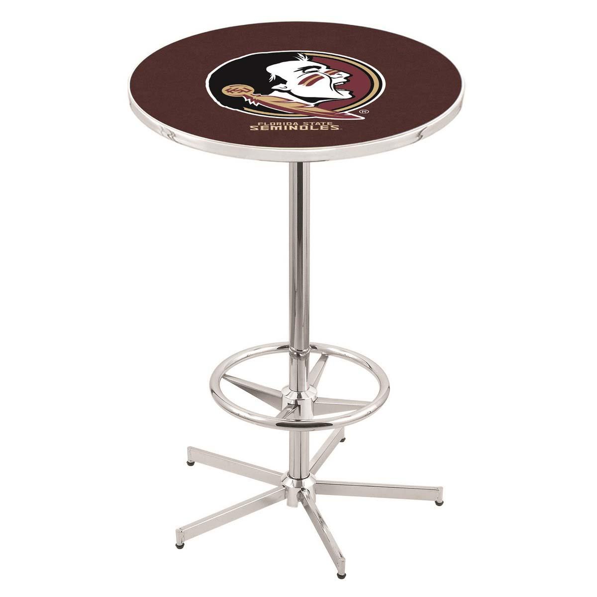 Precious Chrome Florida State Head Pub Table Product Photo