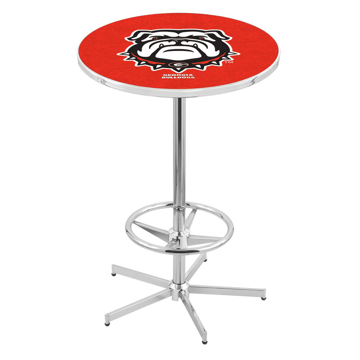 Amazing Chrome Georgia Bulldog Pub Table Product Photo