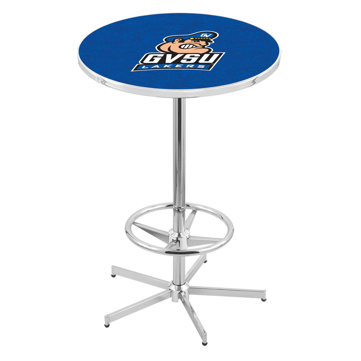 Optimal Chrome Grand Valley State Pub Table Product Photo