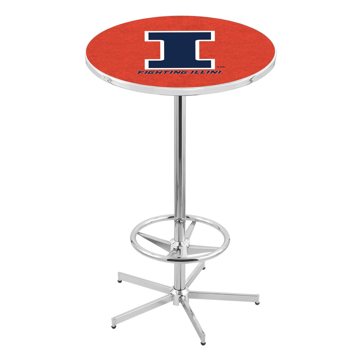 Tasteful Chrome Illinois Pub Table Product Photo