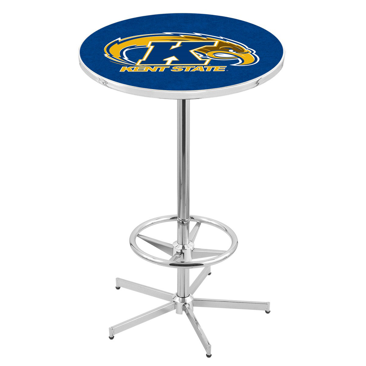 Pretty Chrome Kent State Pub Table Product Photo
