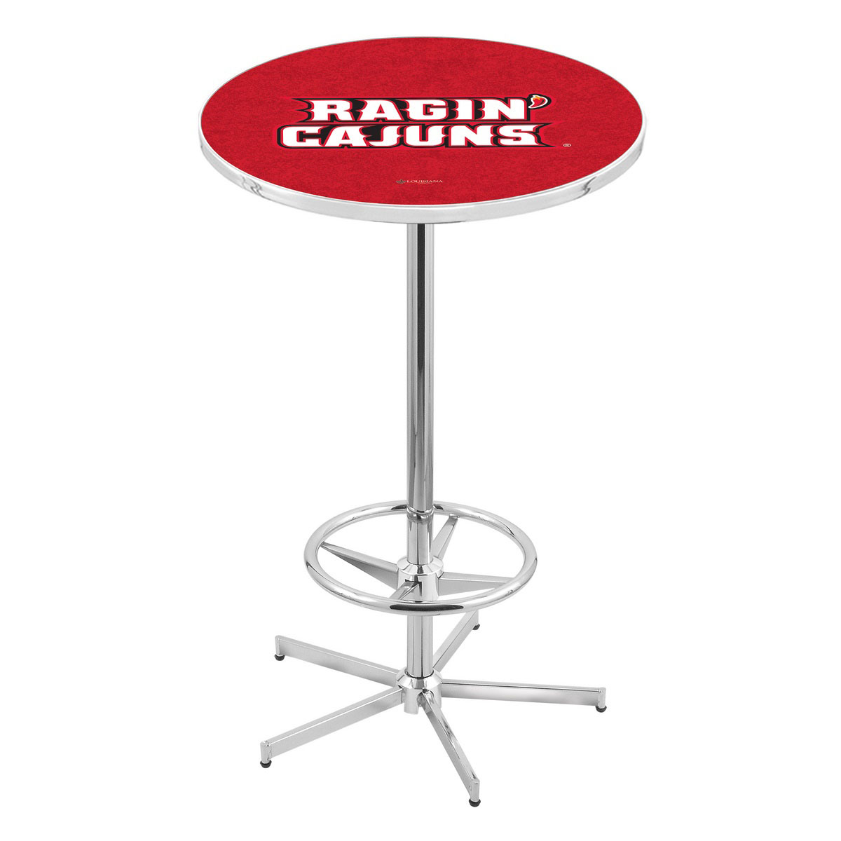 Special Chrome Louisiana Lafayette Pub Table Product Photo