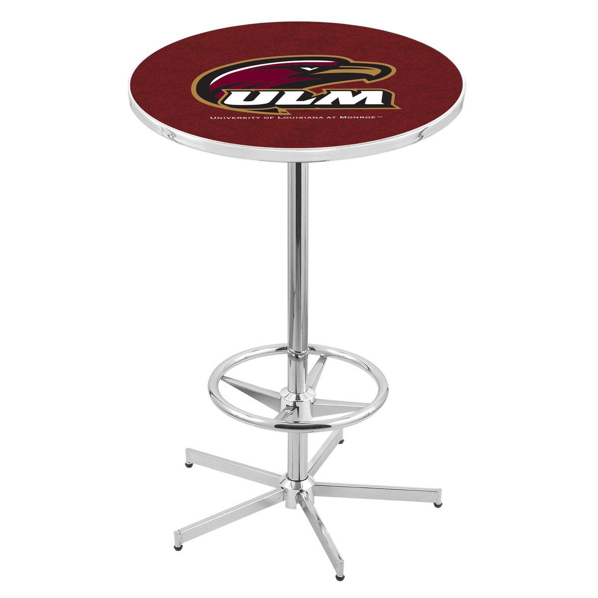 Serious Chrome Louisiana Monroe Pub Table Product Photo
