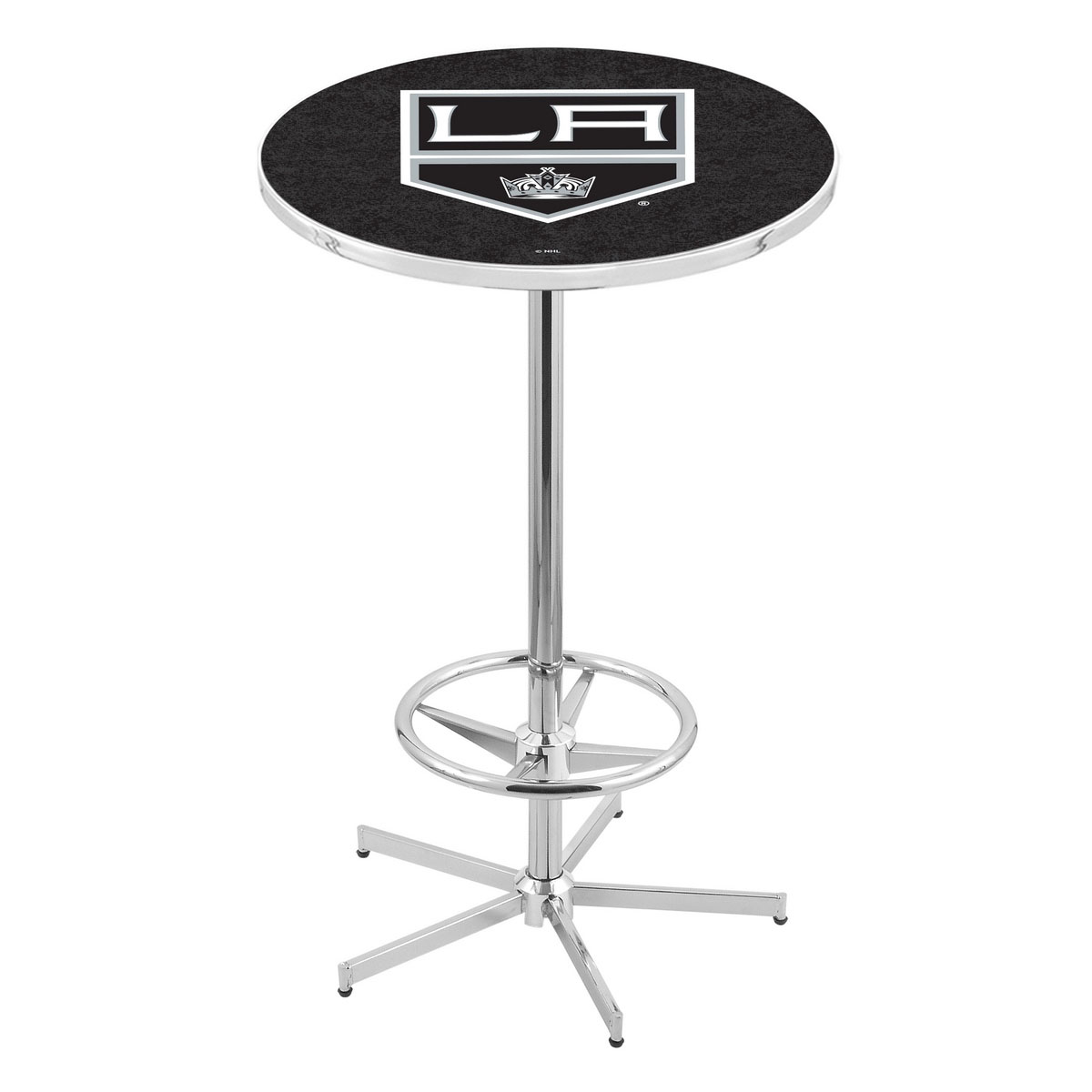 Longstanding Chrome Los Angeles Kings Pub Table Product Photo