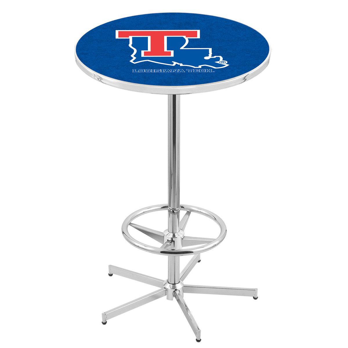 Buy Chrome Louisiana Tech Pub Table Product Photo