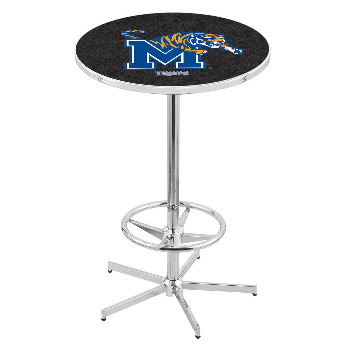 Remarkable Chrome Memphis Pub Table Product Photo