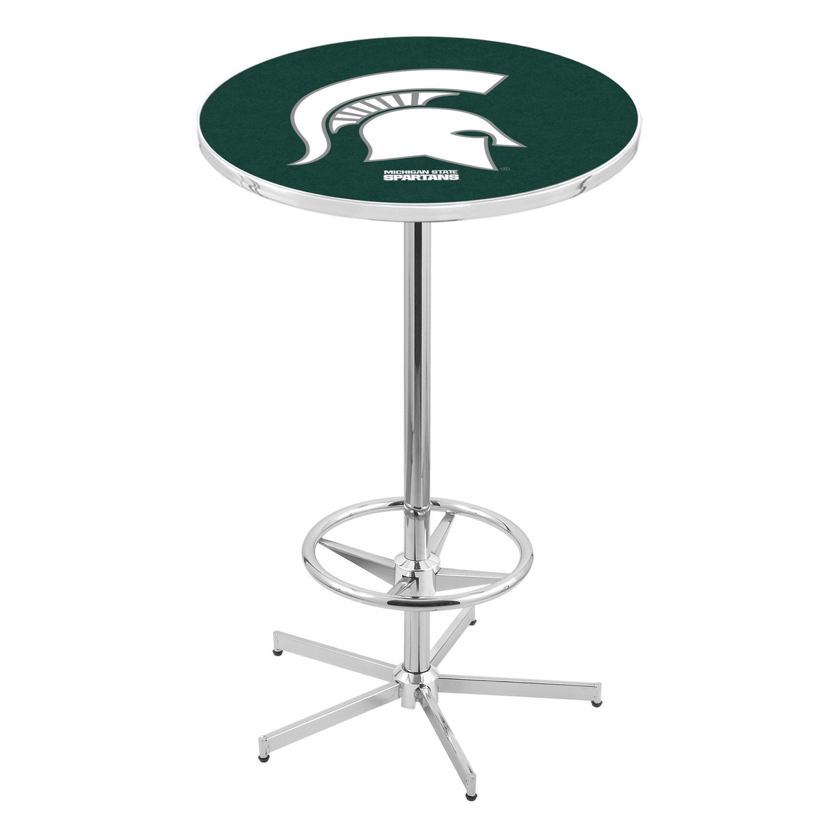 Order Chrome Michigan State Pub Table Product Photo