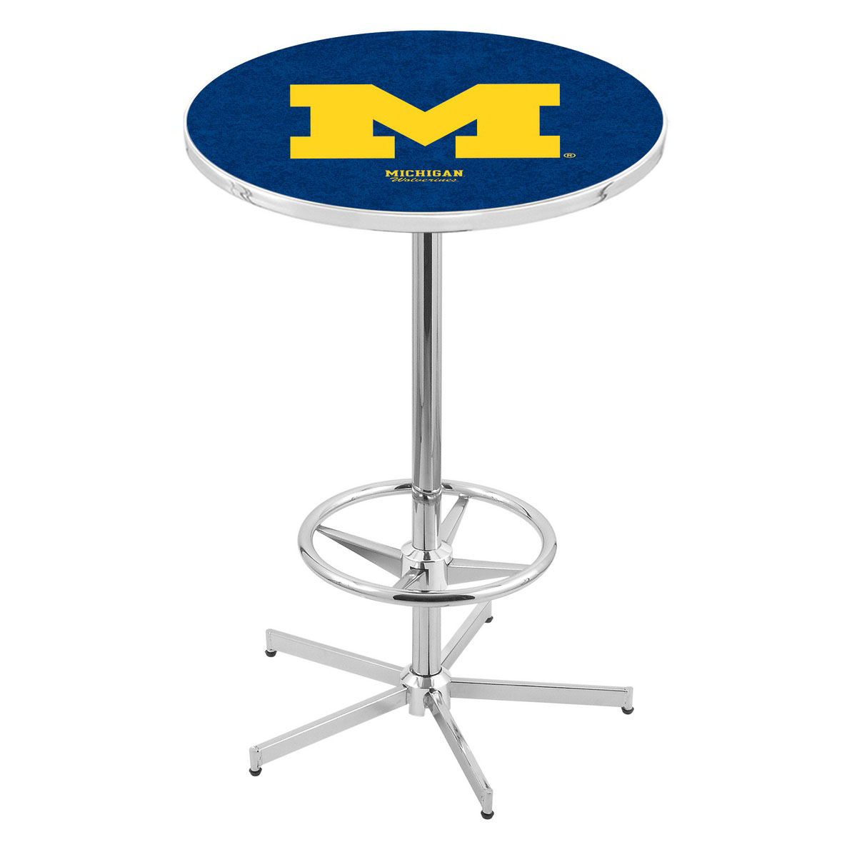Trustworthy Chrome Michigan Pub Table Product Photo