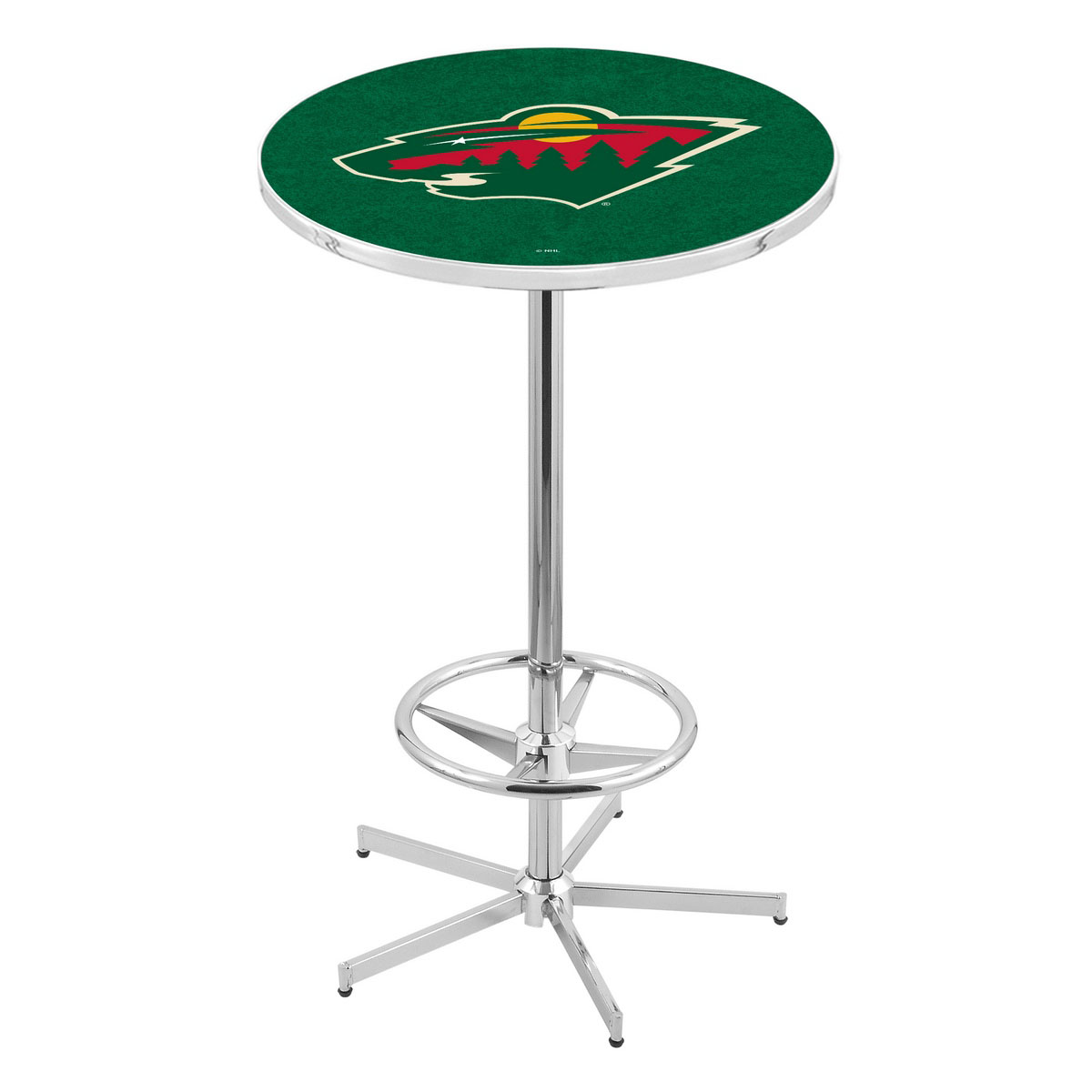 Info about Chrome Minnesota Wild Pub Table Product Photo