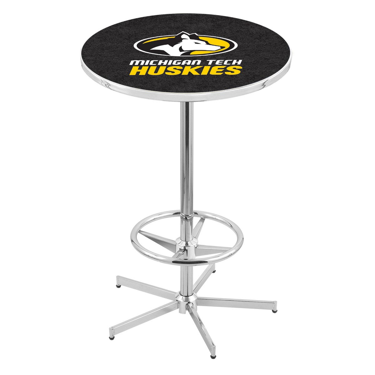 Information about Chrome Michigan Tech Pub Table Product Photo