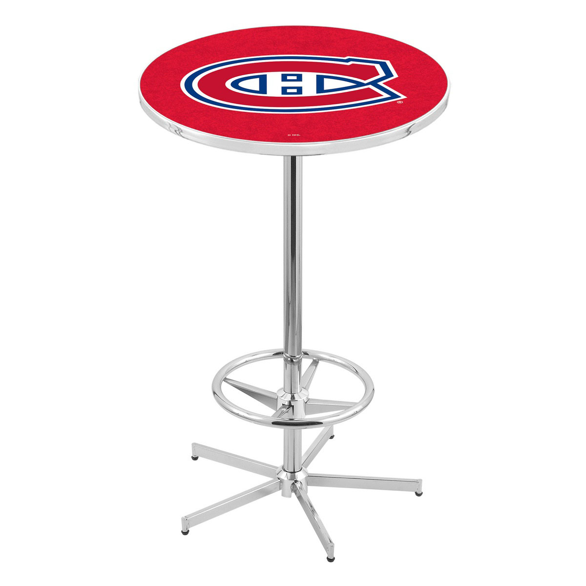 Ultimate Chrome Montreal Canadiens Pub Table Product Photo