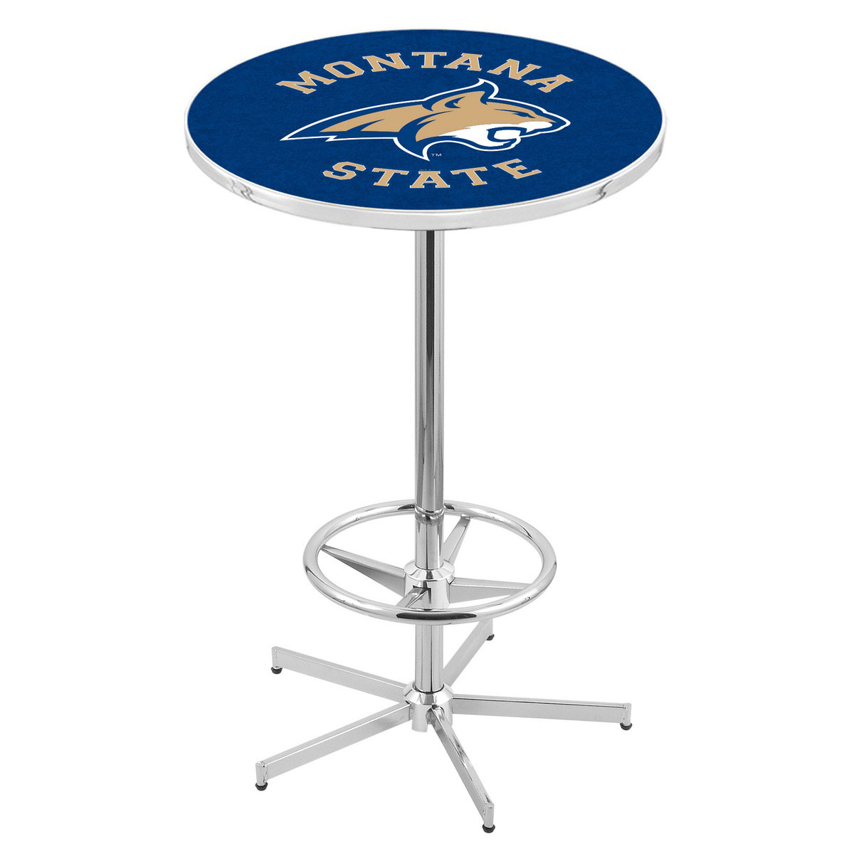 Unique Chrome Montana State Pub Table Product Photo