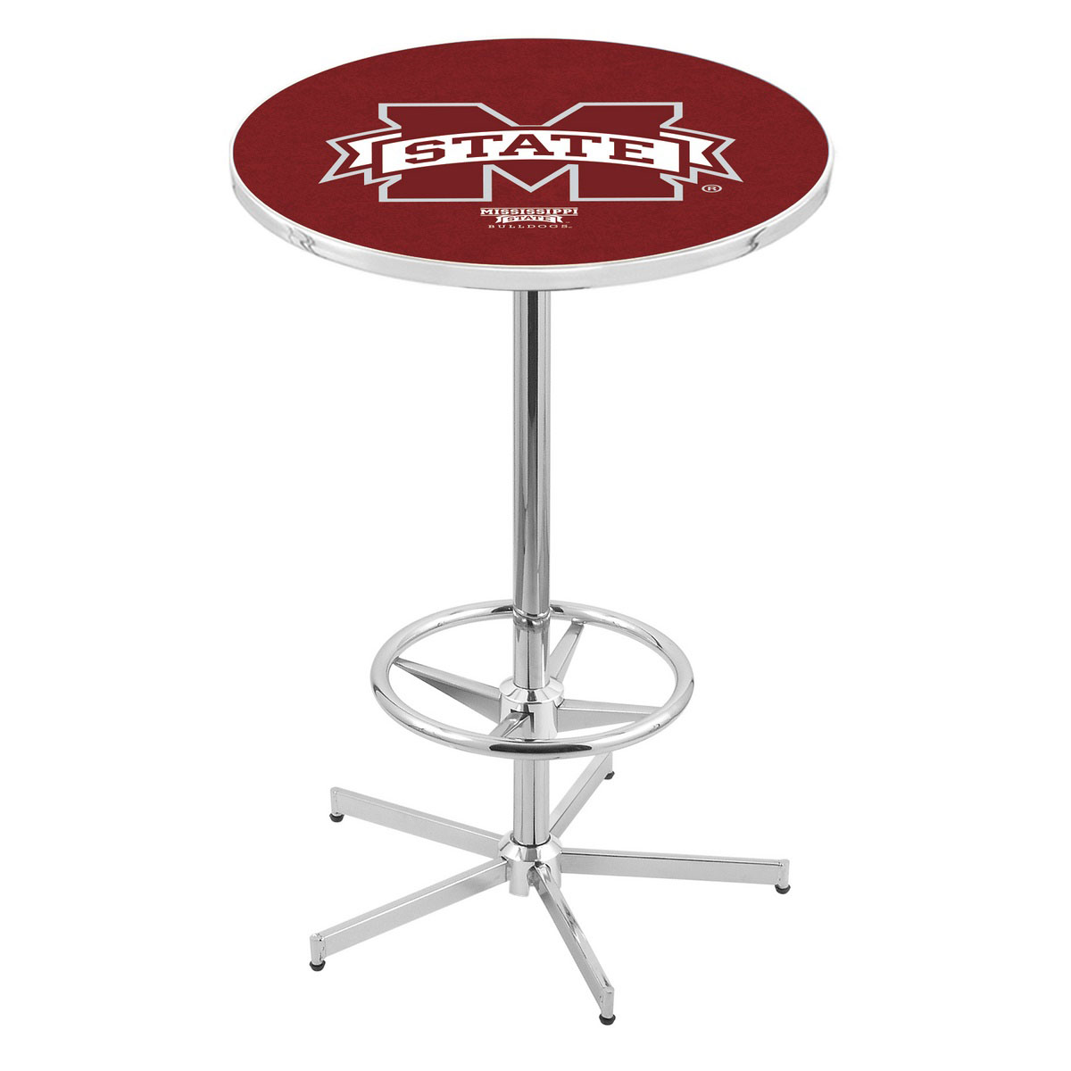 User friendly Chrome Mississippi State Pub Table Product Photo