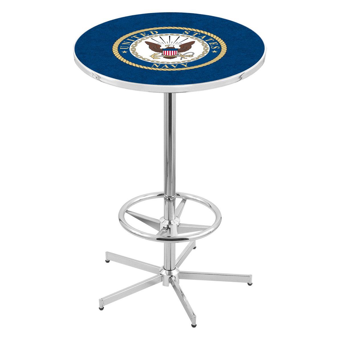 Buy Chrome U Navy Pub Table Product Photo