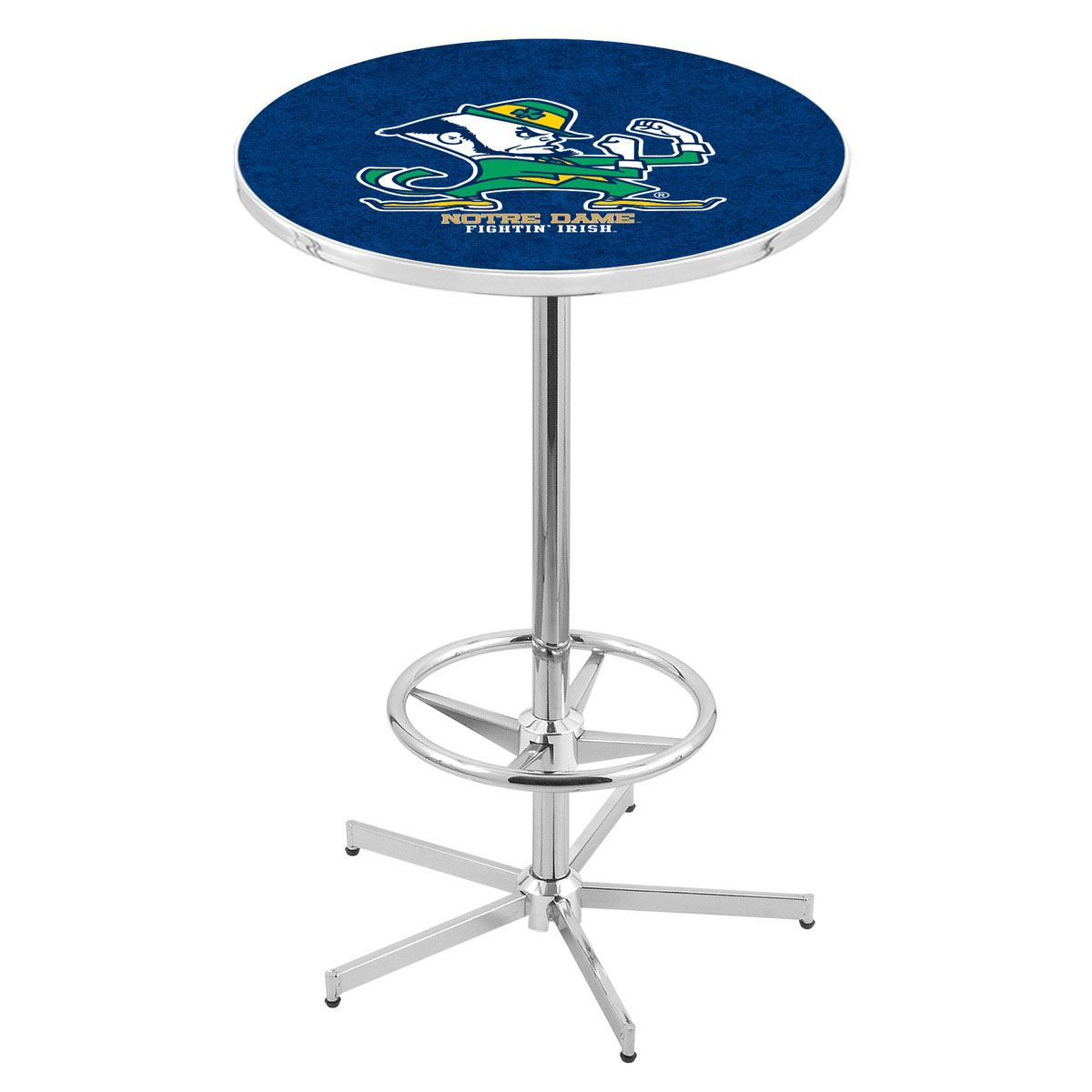 Superb-quality Chrome Notre Dame Leprechaun Pub Table Product Photo
