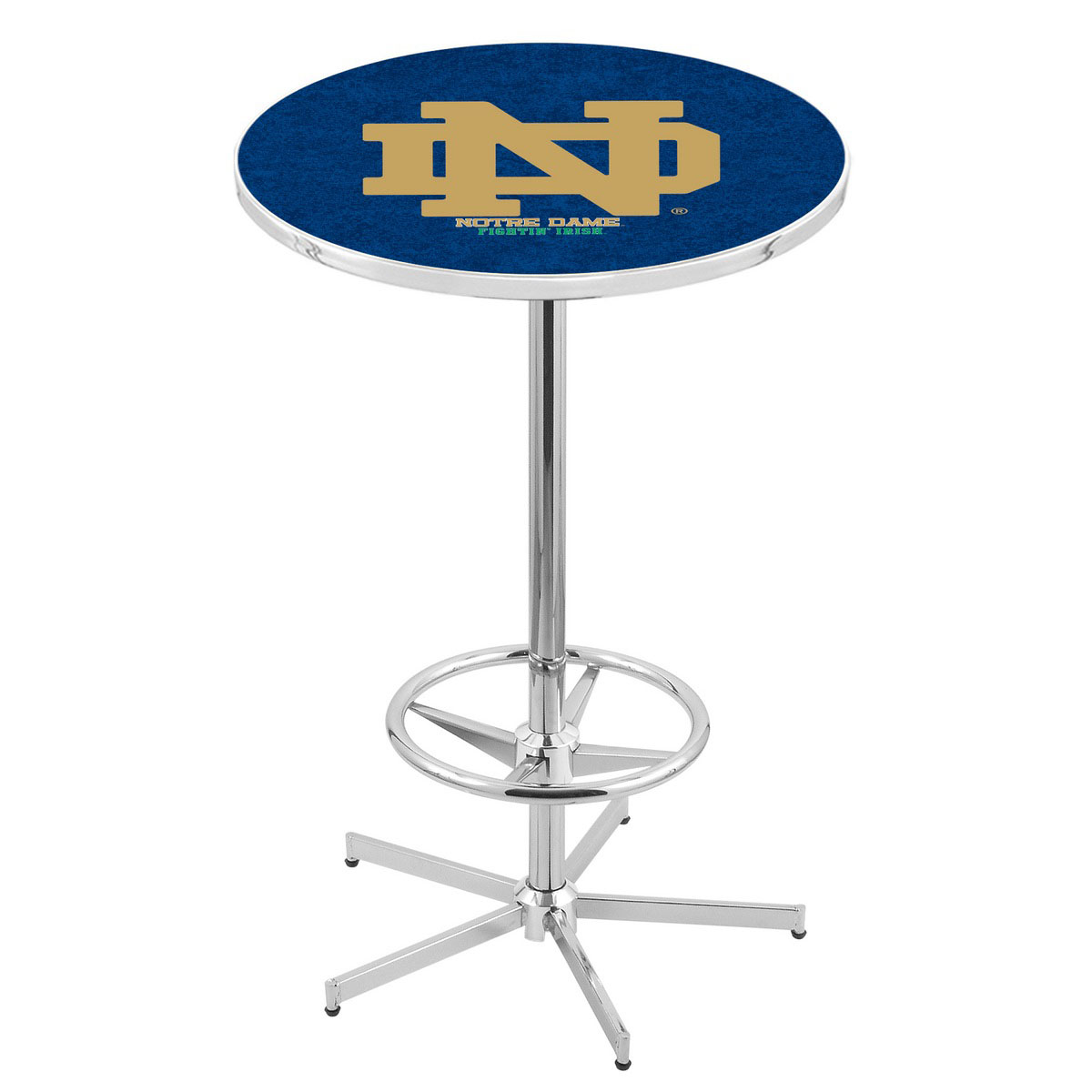 Lovable Chrome Notre Dame Pub Table Product Photo