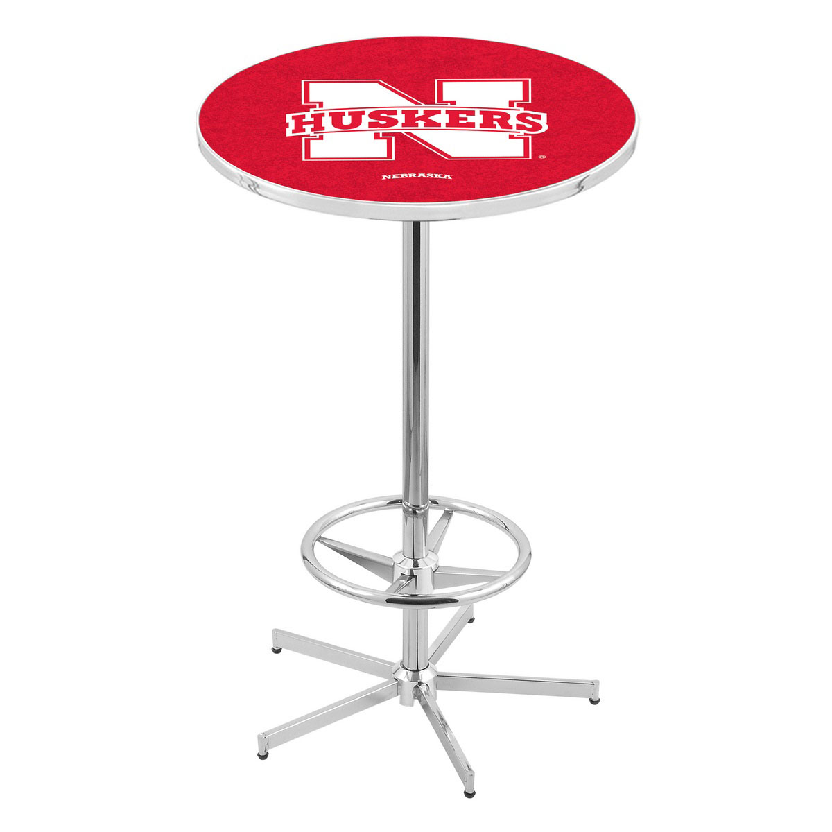 Check out the Chrome Nebraska Pub Table Product Photo