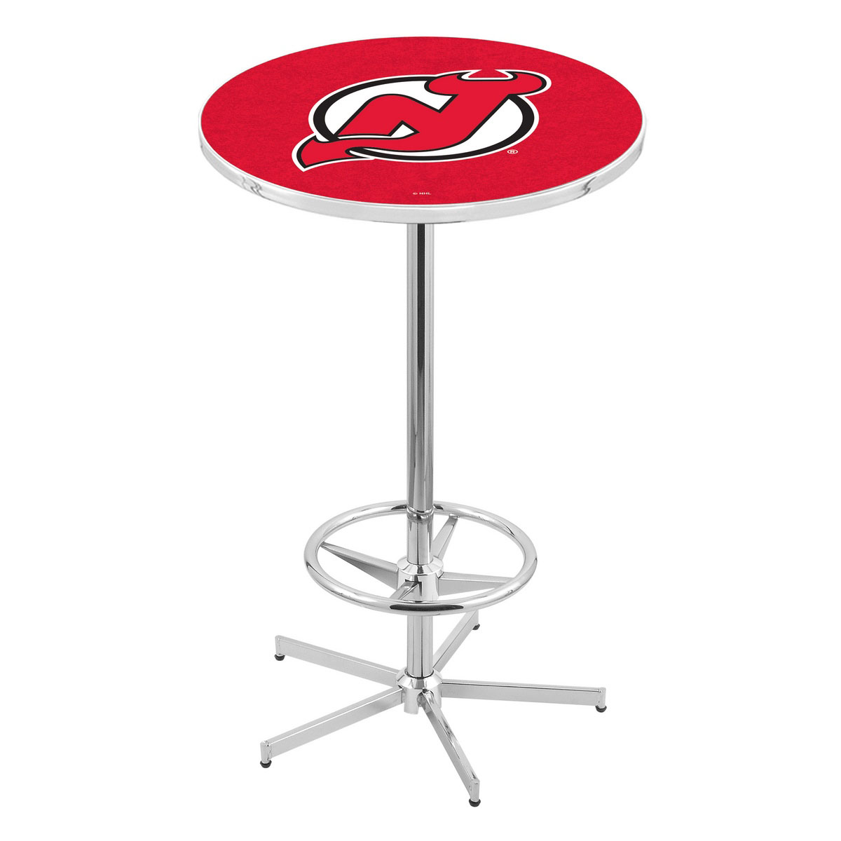 Choose Chrome Jersey Devils Pub Table Product Photo
