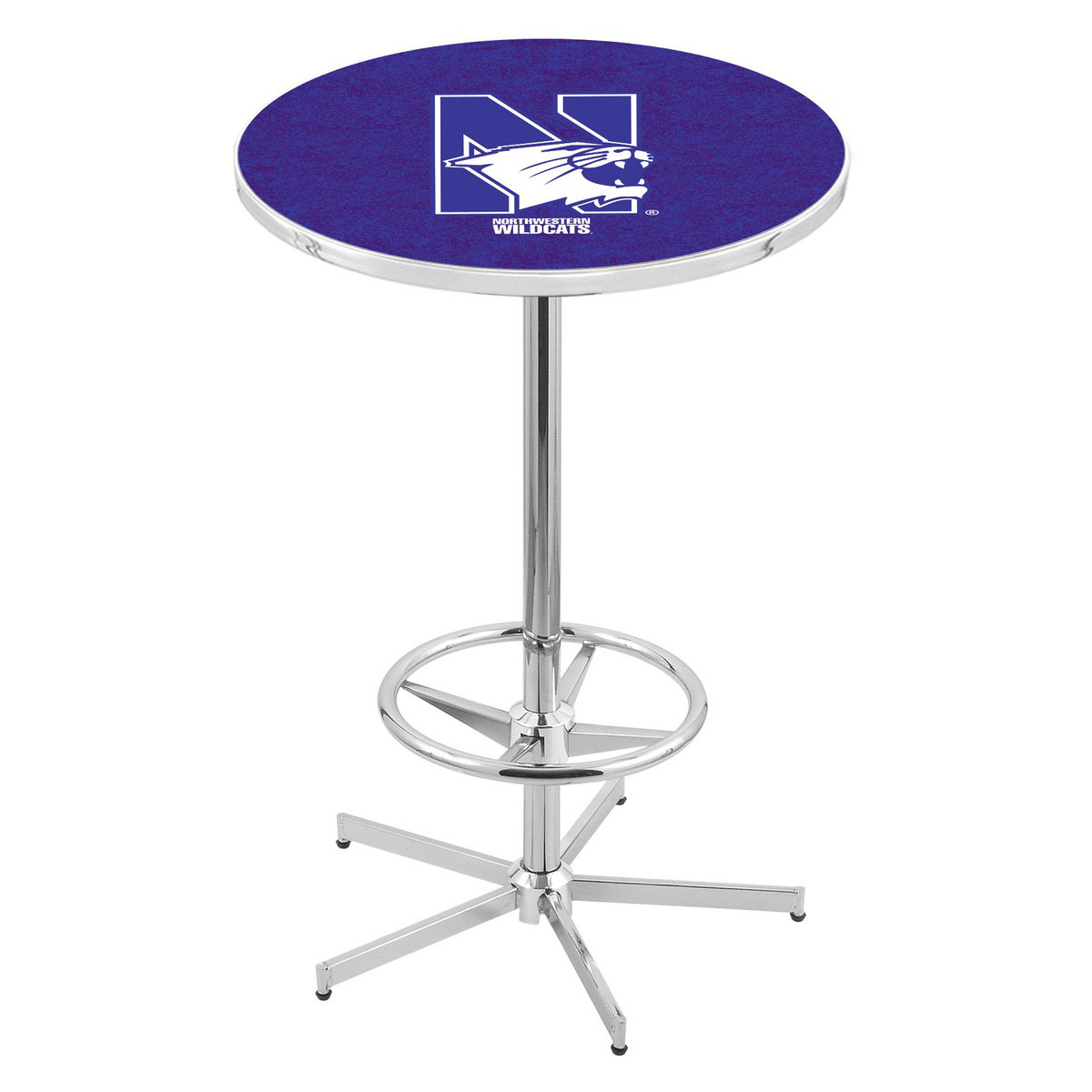 Affordable Chrome Northwestern Pub Table Product Photo