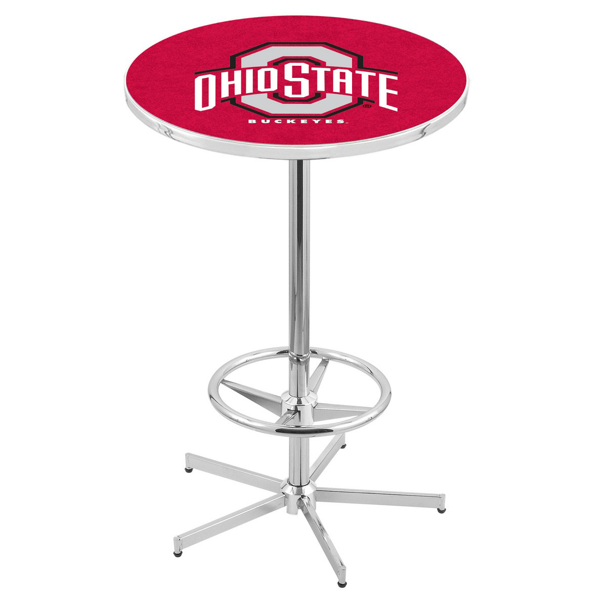 Special Chrome Ohio State Pub Table Product Photo