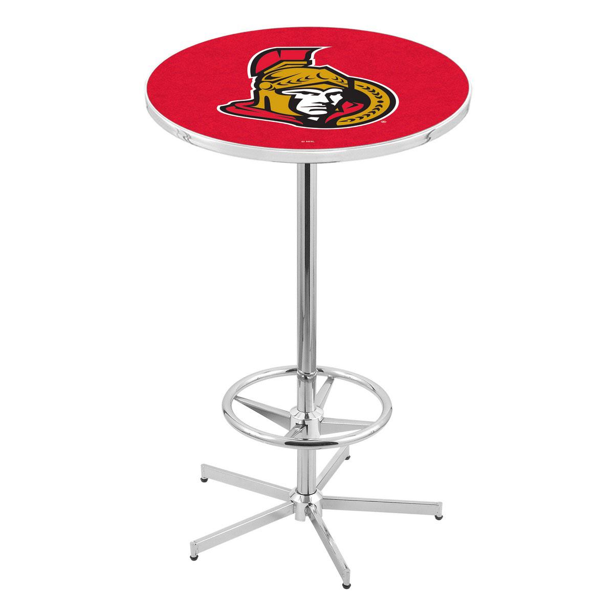 Remarkable Chrome Ottawa Senators Pub Table Product Photo