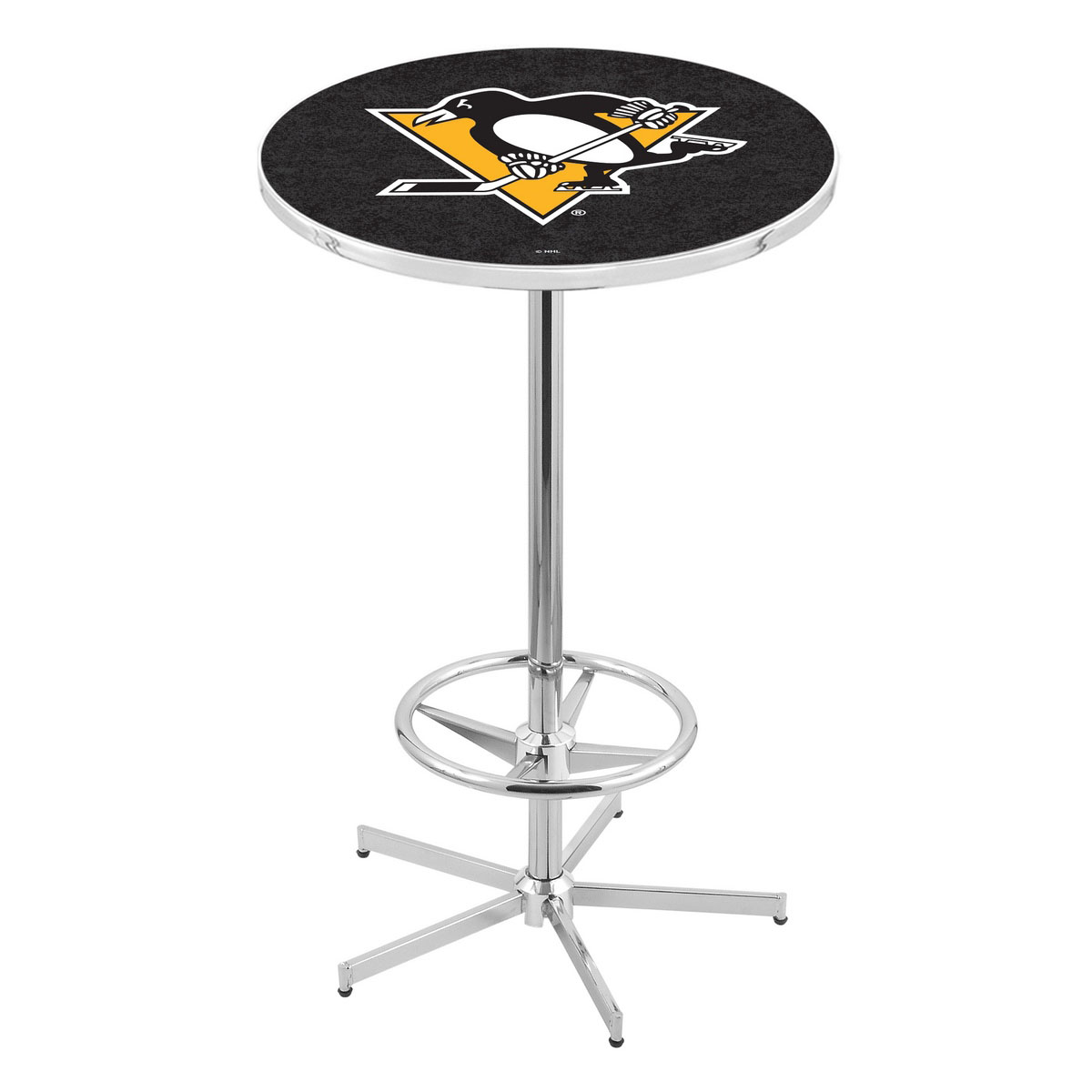 New Chrome Pittsburgh Penguins Pub Table Product Photo