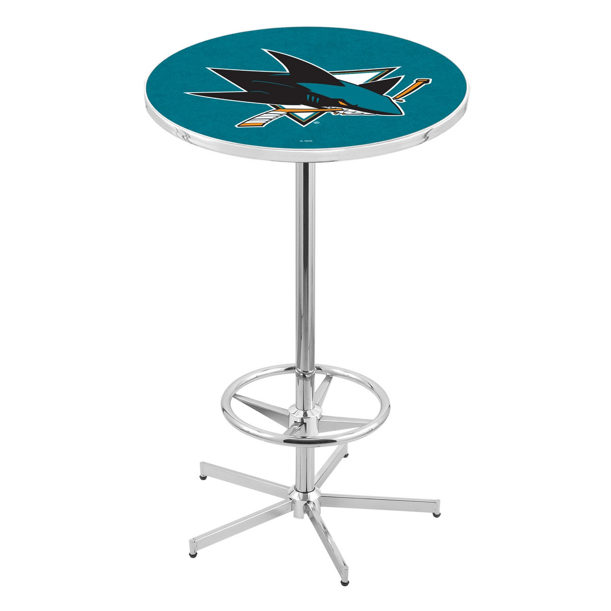 Precious Chrome San Jose Sharks Pub Table Product Photo