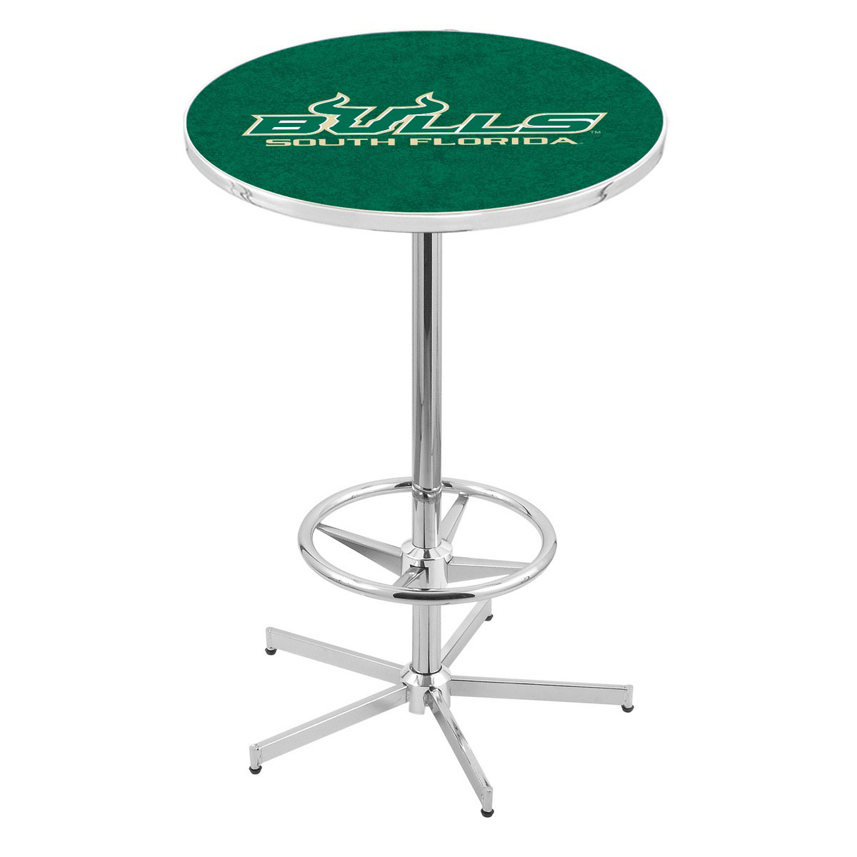 Beautiful Chrome South Florida Pub Table Product Photo
