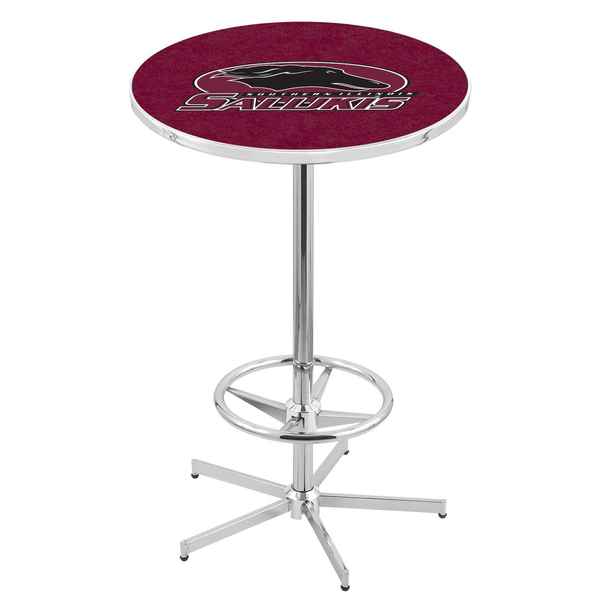 Popular Chrome Southern Illinois Pub Table Product Photo