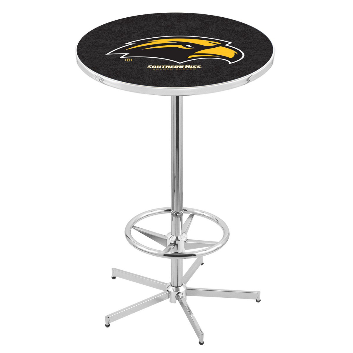 Wonderful Chrome Southern Miss Pub Table Product Photo
