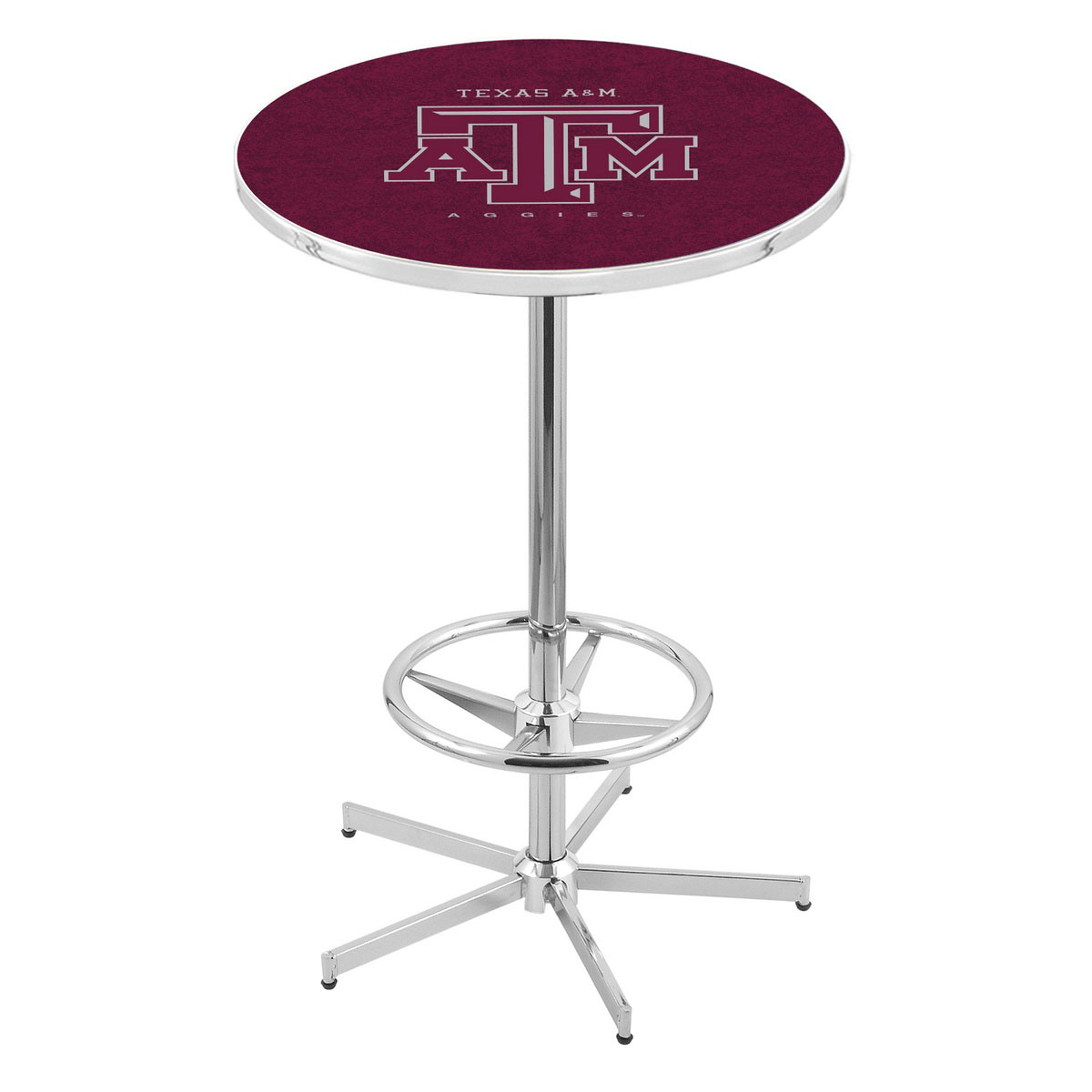 Magnificent Chrome Texas A Pub Table Product Photo