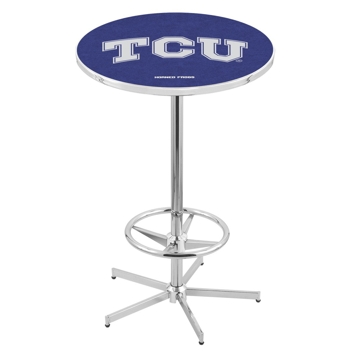 One of a kind Chrome Tcu Pub Table Product Photo