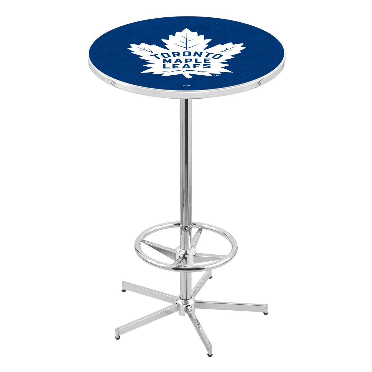 High-class Chrome Toronto Leafs Pub Table Product Photo