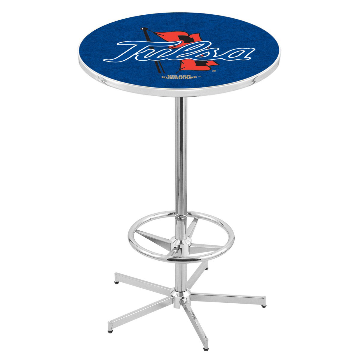 Longstanding Chrome Tulsa Pub Table Product Photo