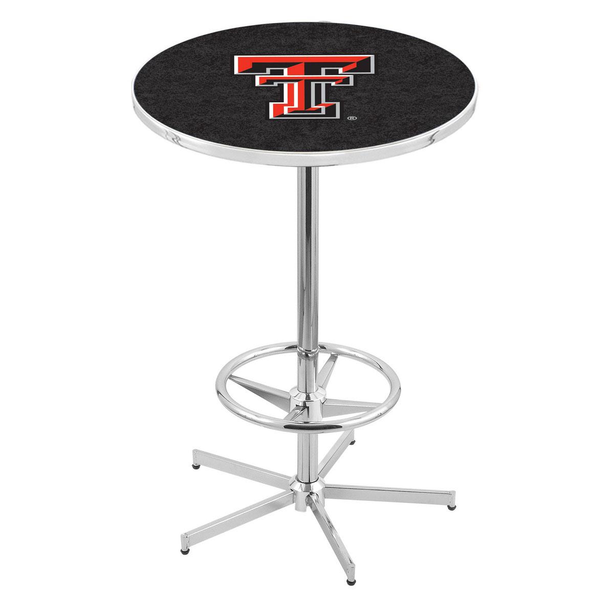 Beautiful Chrome Texas Tech Pub Table Product Photo