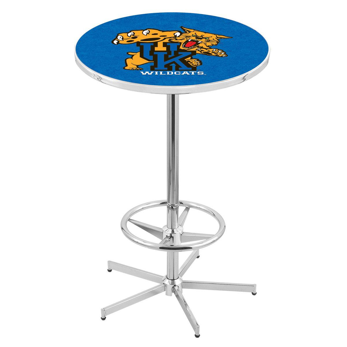Superb Chrome Kentucky Wildcat Pub Table Product Photo