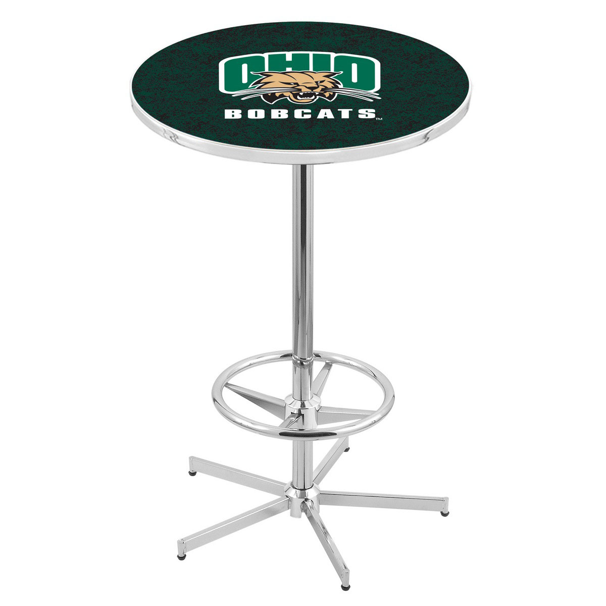 Serious Chrome Ohio University Pub Table Product Photo