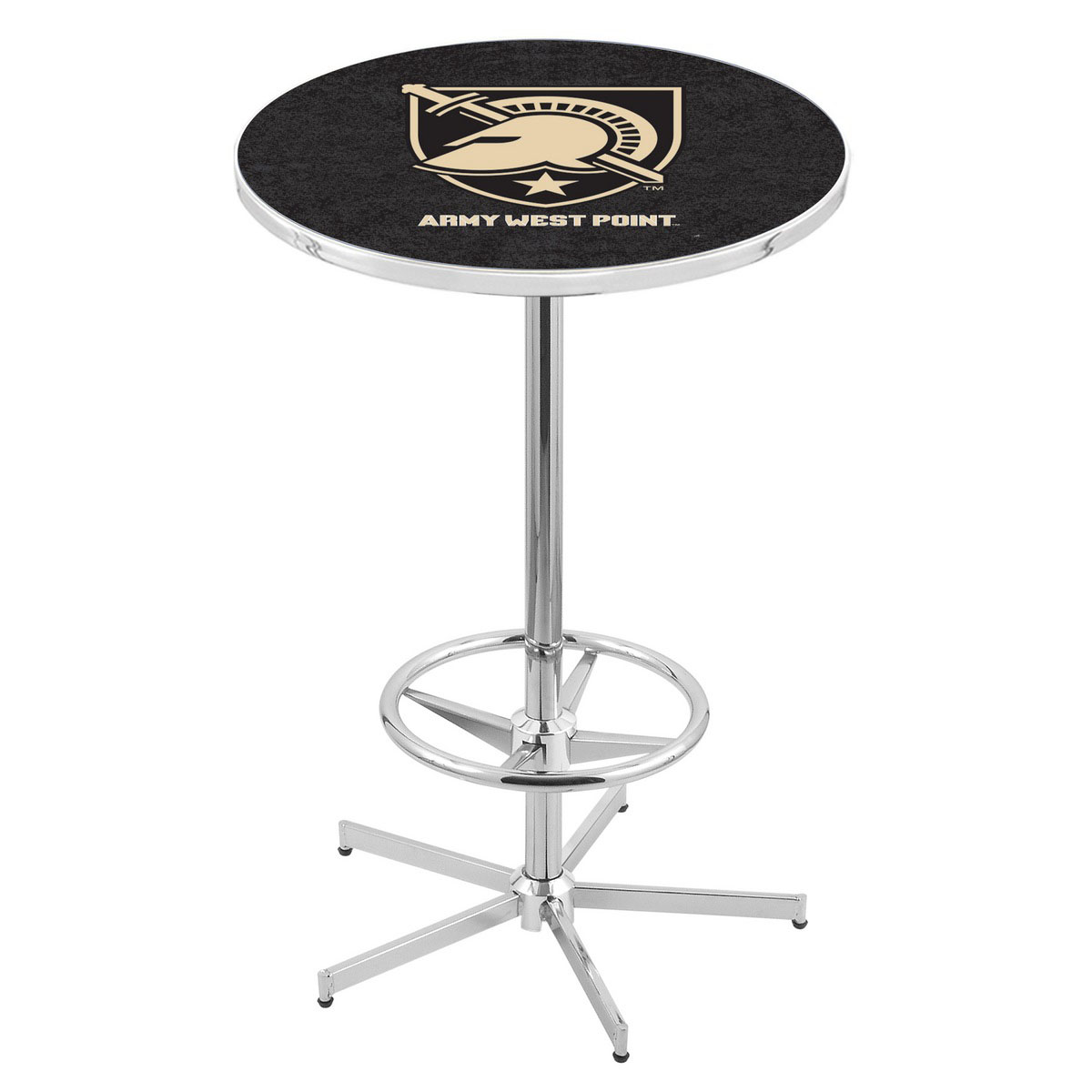 Info about Chrome Us Military Academy Pub Table Product Photo