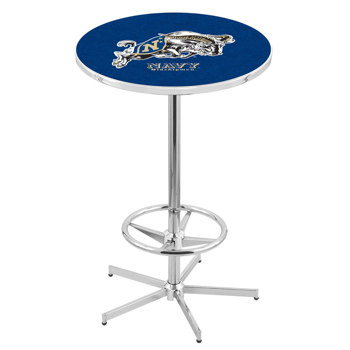 User friendly Chrome Us Naval Academy Pub Table Product Photo
