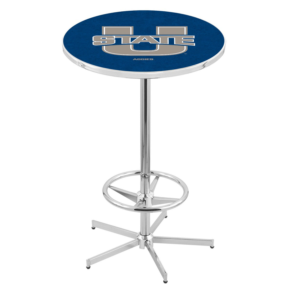 Unique Chrome Utah State Pub Table Product Photo