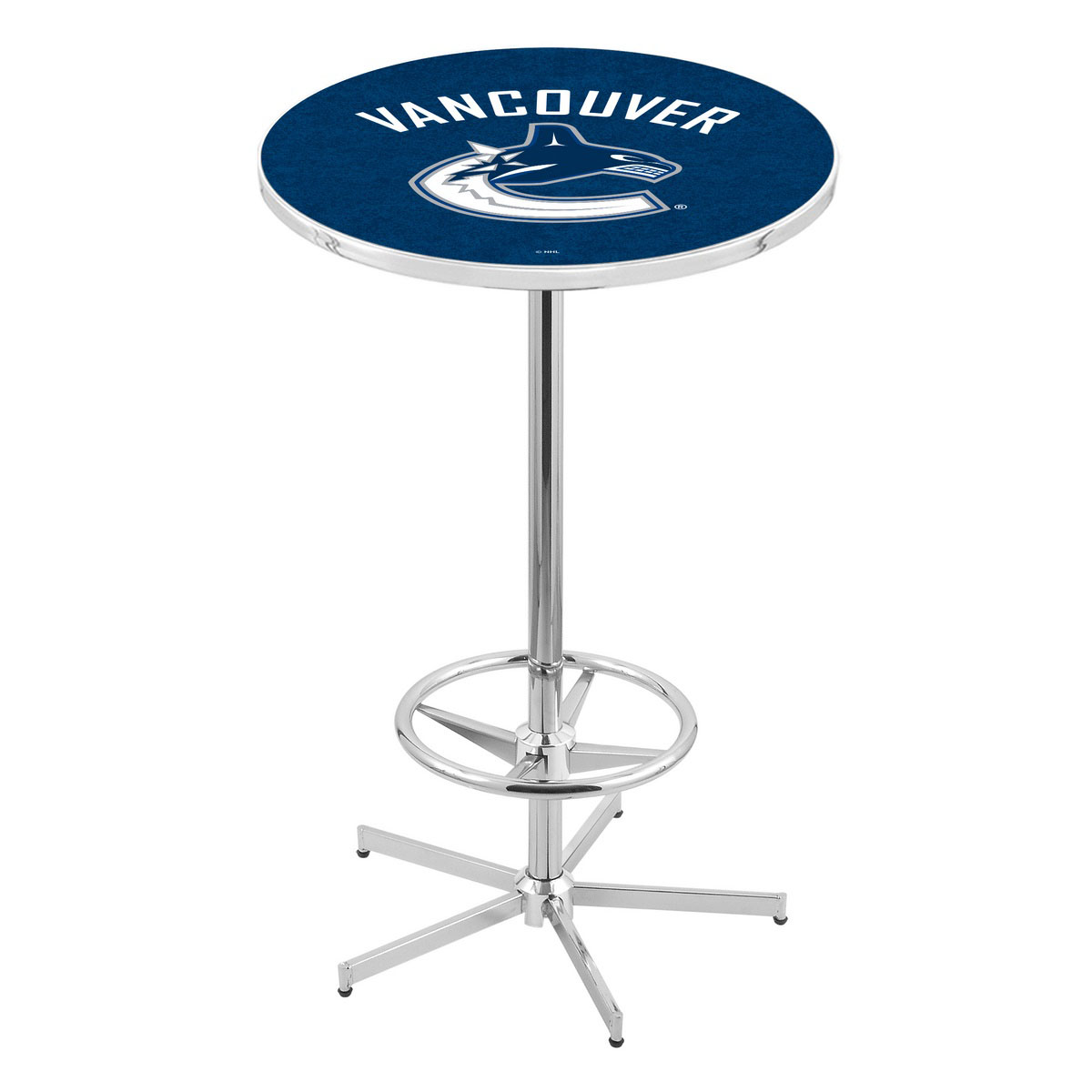 Learn more about Chrome Vancouver Canucks Pub Table Product Photo