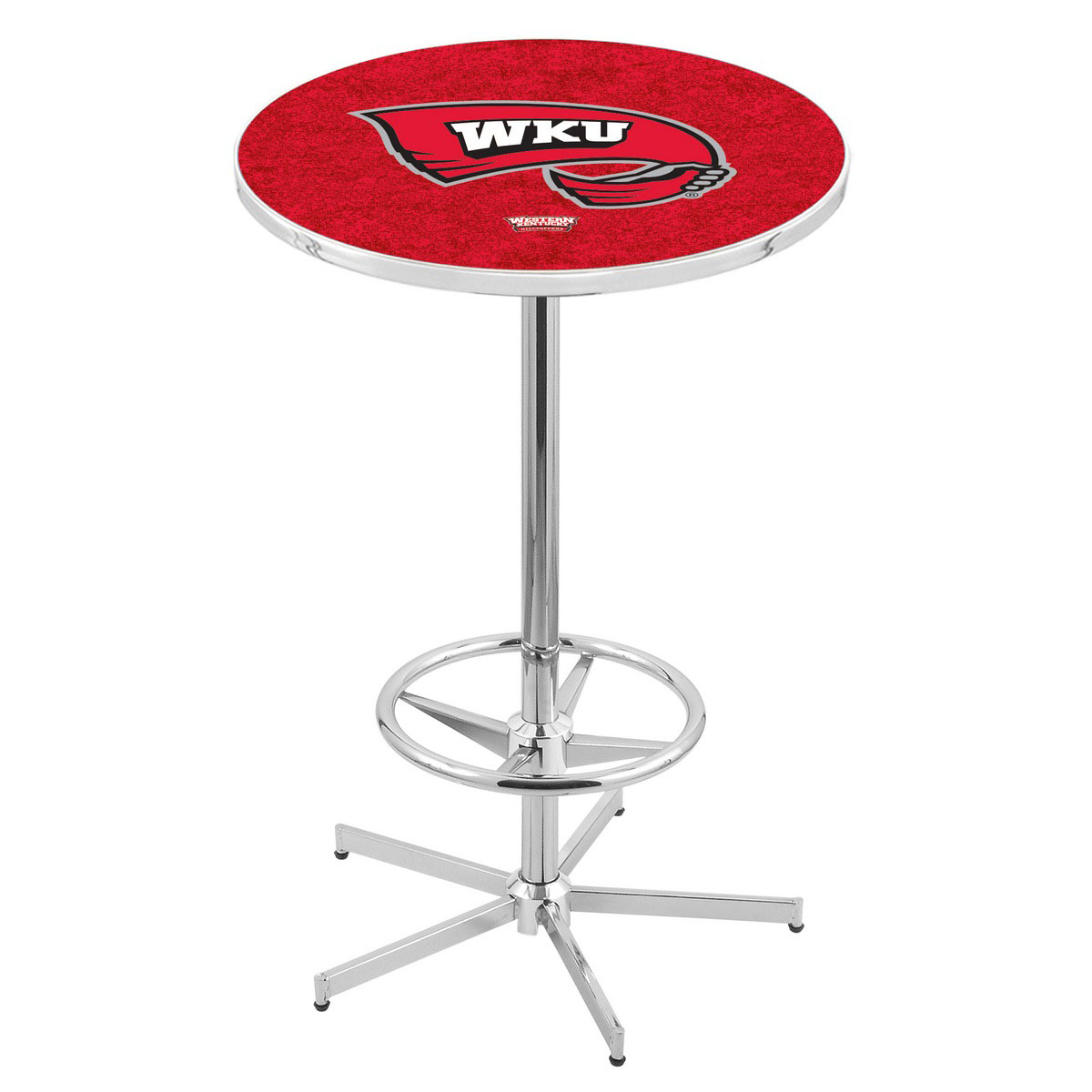 Superb Chrome Western Kentucky Pub Table Product Photo