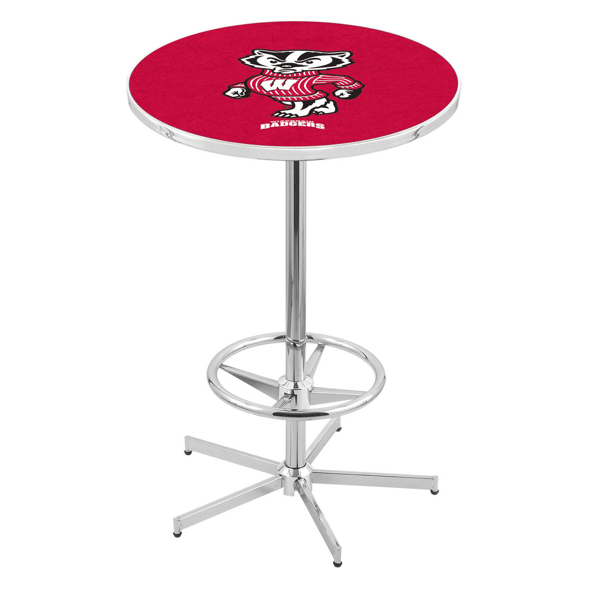 Search Chrome Wisconsin Badger Pub Table Product Photo