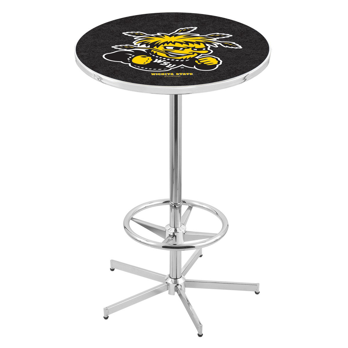 Special Chrome Wichita State Pub Table Product Photo