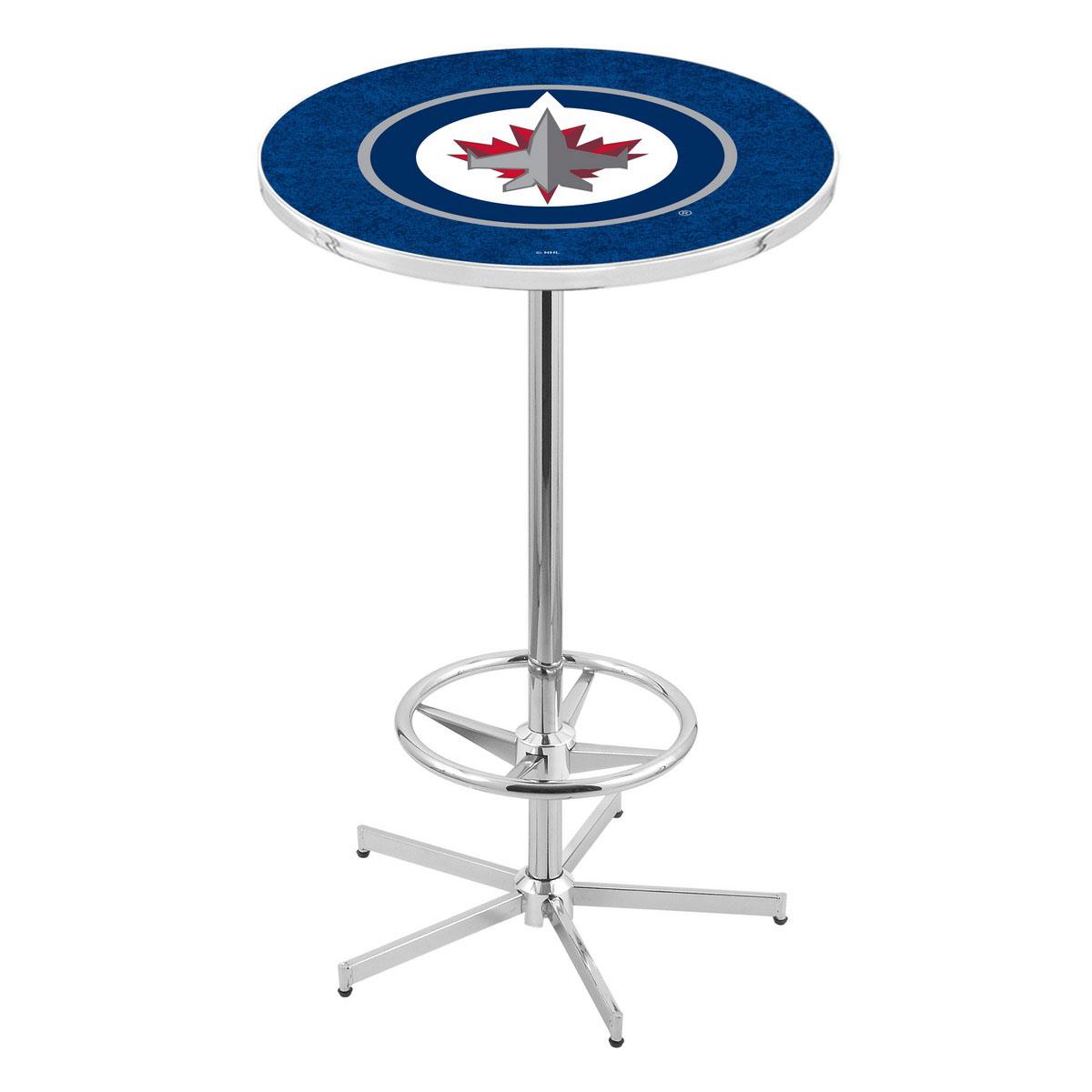 Serious Chrome Winnipeg Jets Pub Table Product Photo
