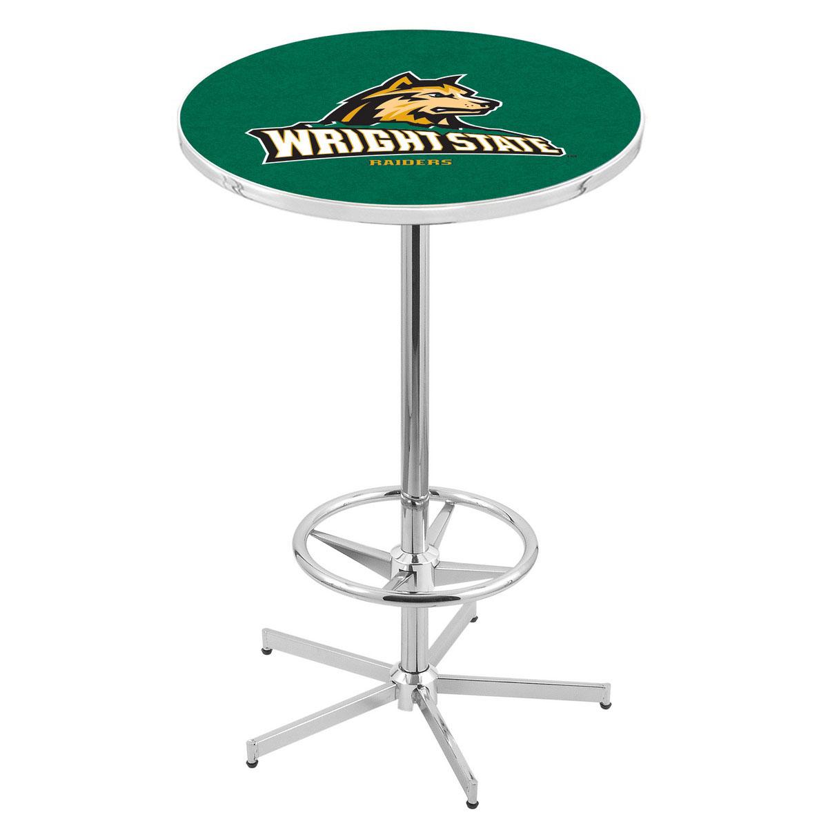 Impressive Chrome Wright State Pub Table Product Photo