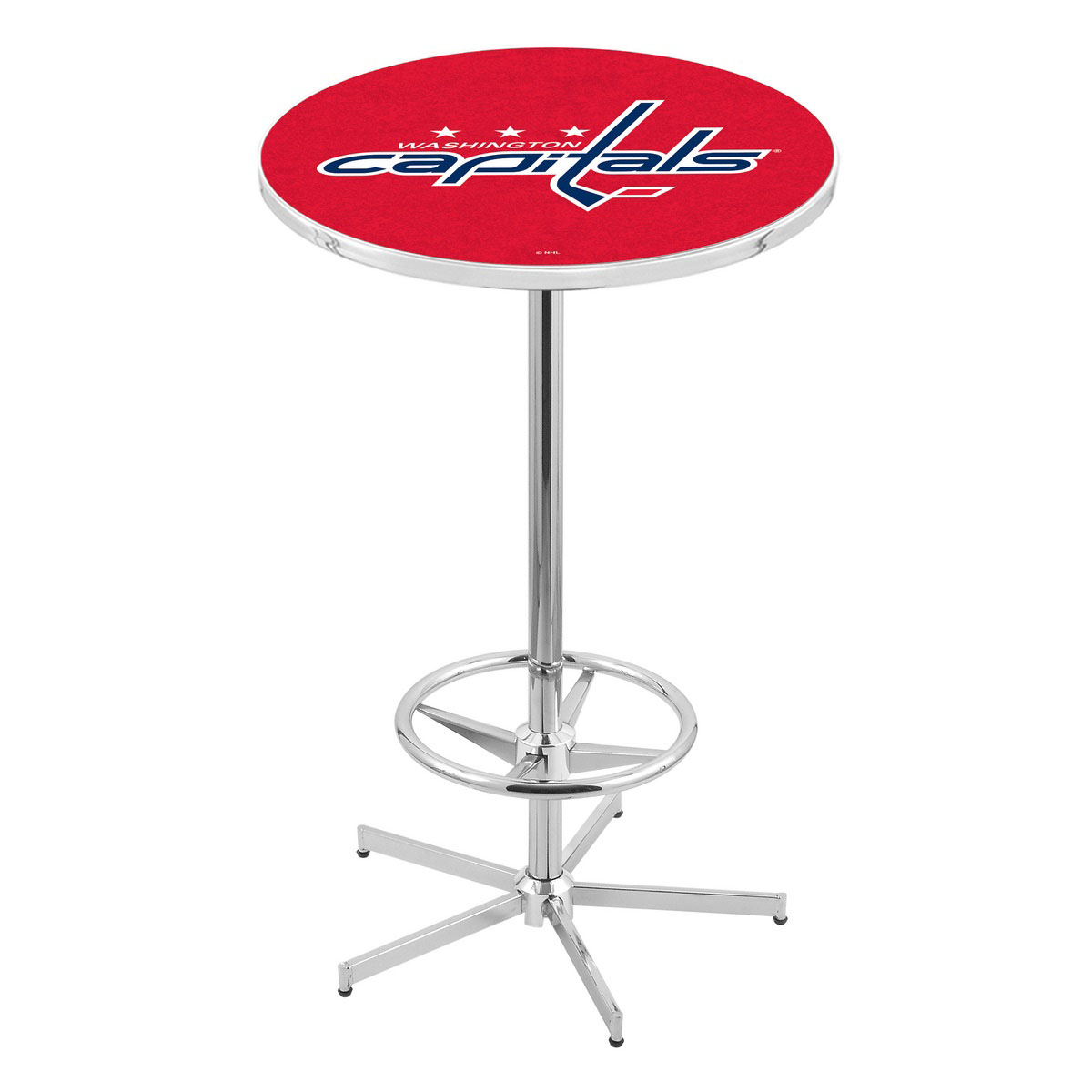 Tasteful Chrome Washington Capitals Pub Table Product Photo